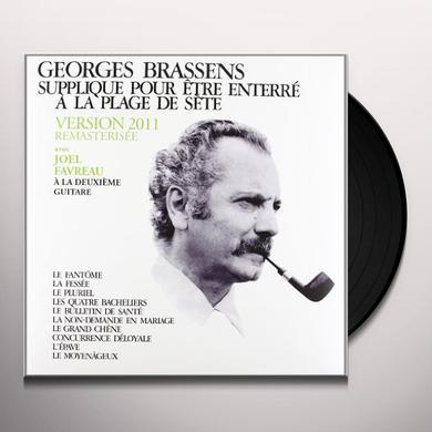 Georges Brassens SUPPLIQUE POUR ETRE ENTERRE A LA PLAGE DE SETE Vinyl Record