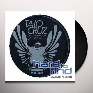 Taio Cruz I JUST WANNA KNOW Vinyl Record - UK Import