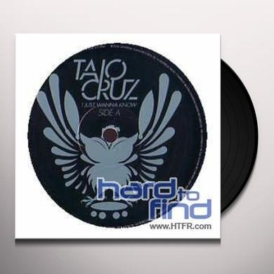 Taio Cruz I JUST WANNA KNOW Vinyl Record - UK Import
