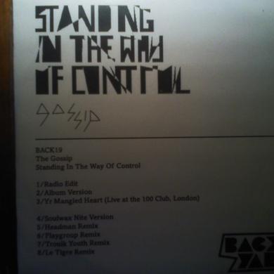 Gossip STANDING IN THE WAY OF CONTROL Vinyl Record