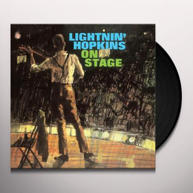 LIGHTNIN HOPKINS ON STAGE Vinyl Record