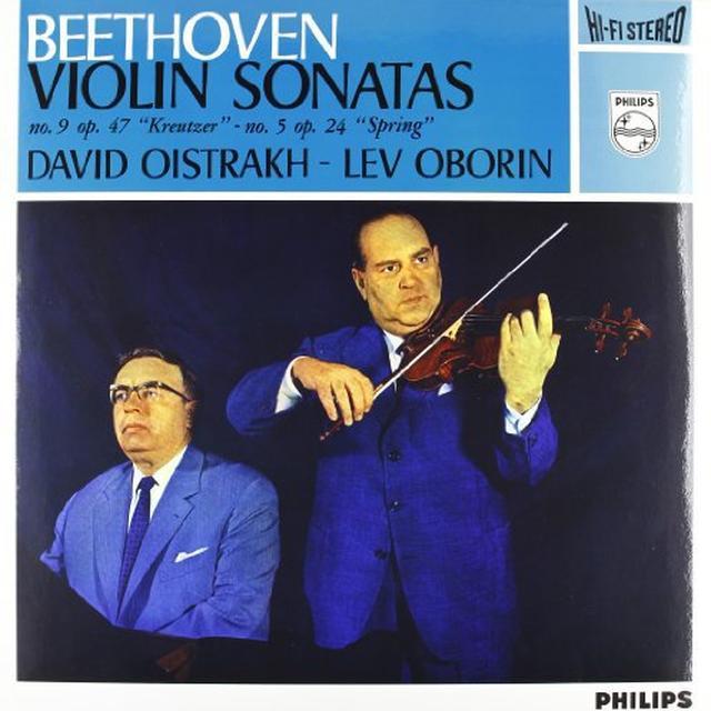 Beethoven / Oborin / Oistrach SONATAS FOR PIANO & VIOLIN 5 & 9 Vinyl Record - 180 Gram Pressing