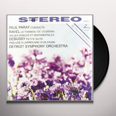 Debussy / Ravel / Paray / Detroit Sym Orchestra PRELUDE A I'APRES MIDI D'UN PAUNE / VALSES NOBLES Vinyl Record
