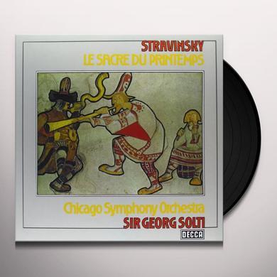Stravinsky / Solti / Chicago Symphony Orchestra SACRE DU PRINTEMPS Vinyl Record - 180 Gram Pressing