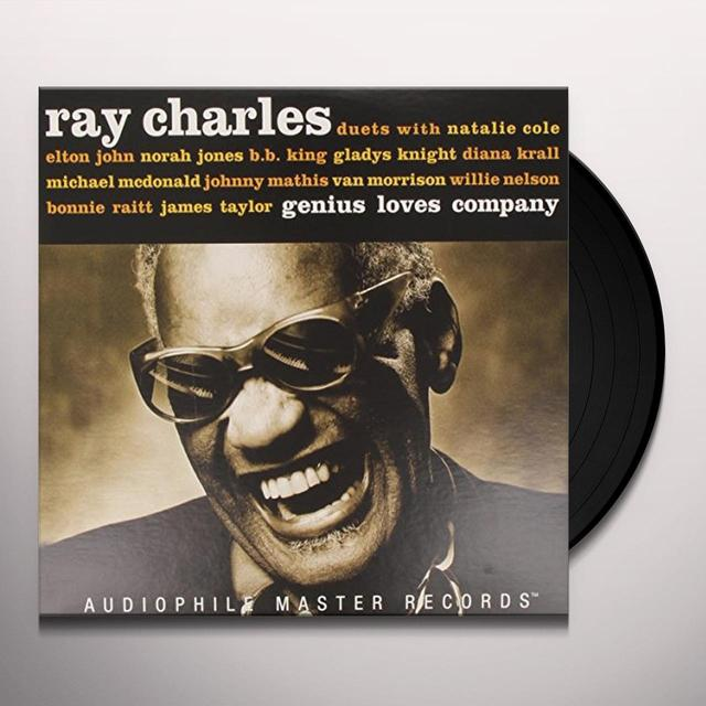 Ray Charles GENIUS LOVES COMPANY Vinyl Record - Limited Edition, 180 Gram Pressing