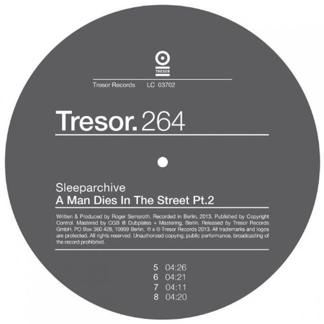 Sleeparchive MAN DIES IN THE STREET PART 2 Vinyl Record