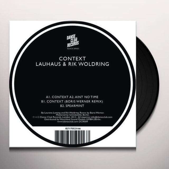 Lauhaus & Rik Woldring CONTEXT Vinyl Record
