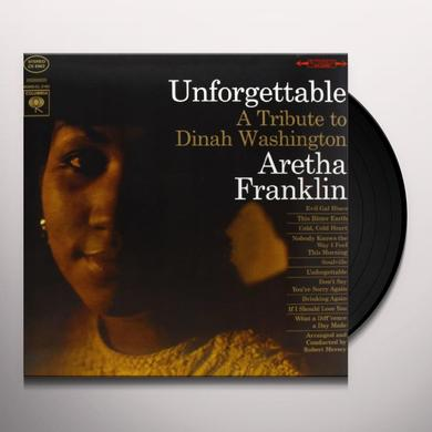 Aretha Franklin UNFORGETTABLE Vinyl Record - 180 Gram Pressing