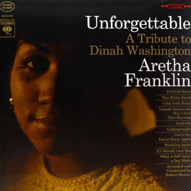 Aretha Franklin UNFORGETTABLE Vinyl Record - 180 Gram Pressing