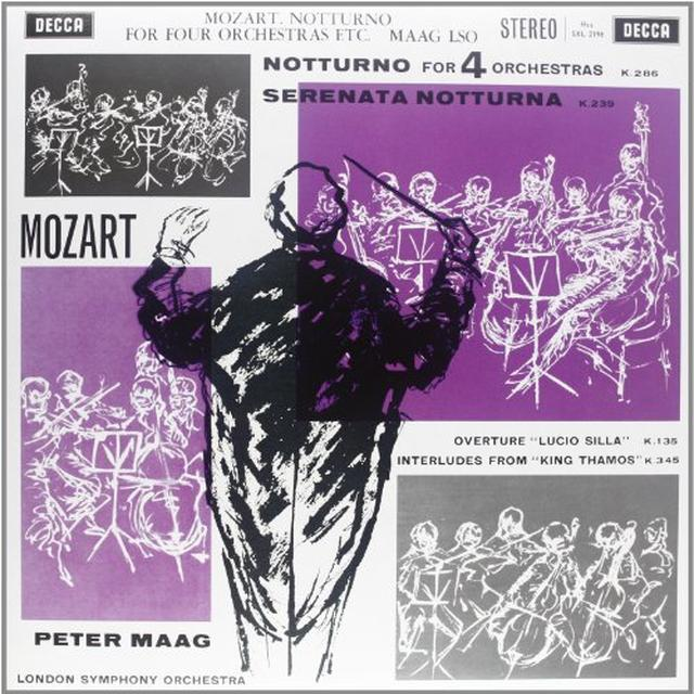 Mozart / Maag NOTTURNO FOR FOUR ORCHESTRAS Vinyl Record - 180 Gram Pressing