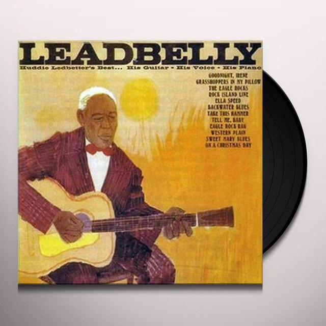 Leadbully HUDDIE LEDBETTER'S BEST HIS GUITAR HIS VOICE HIS Vinyl Record