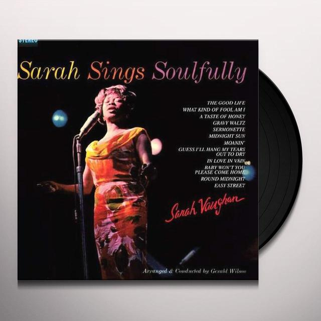 Sarah Vaughan SARAH SINGS SOULFULLY Vinyl Record