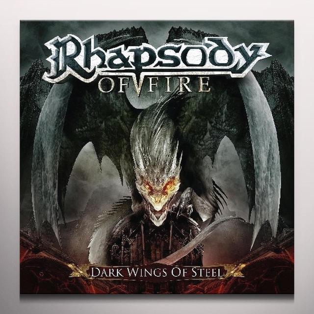 Rhapsody Of Fire DARK WINGS OF STEEL Vinyl Record - Red Vinyl, Colored Vinyl