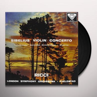 Sibelius / Tchaikovsky / Fjeldstad VIOLIN CONCERTO / SERENADE MELANCOLIQUE Vinyl Record