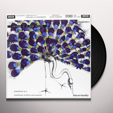 Stravinsky / Ansermet SYMPHONIES Vinyl Record - 180 Gram Pressing