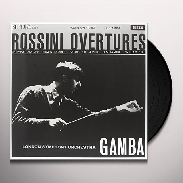 Rossini / Gamba OVERTURES Vinyl Record - 180 Gram Pressing
