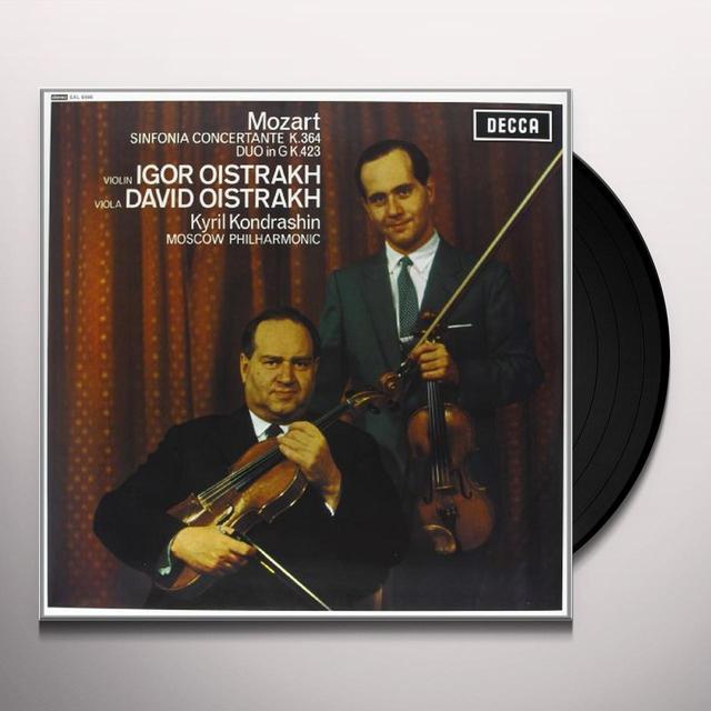 Mozart / Kondrashin SINFONIA CONCERTANTE Vinyl Record - 180 Gram Pressing