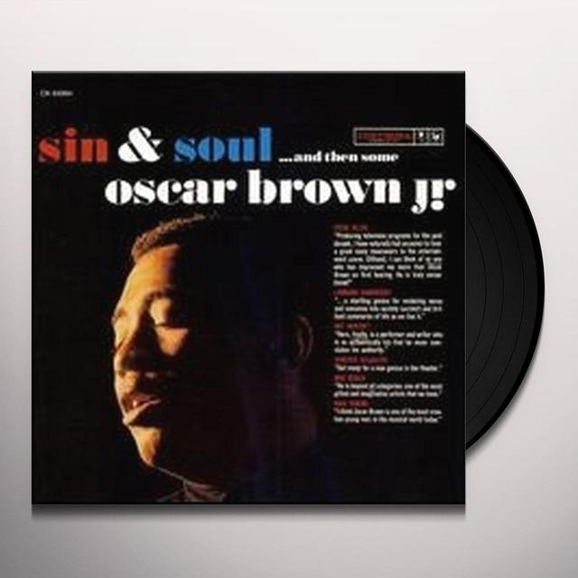 Oscar Brown Jr SIN & SOUL Vinyl Record - 180 Gram Pressing