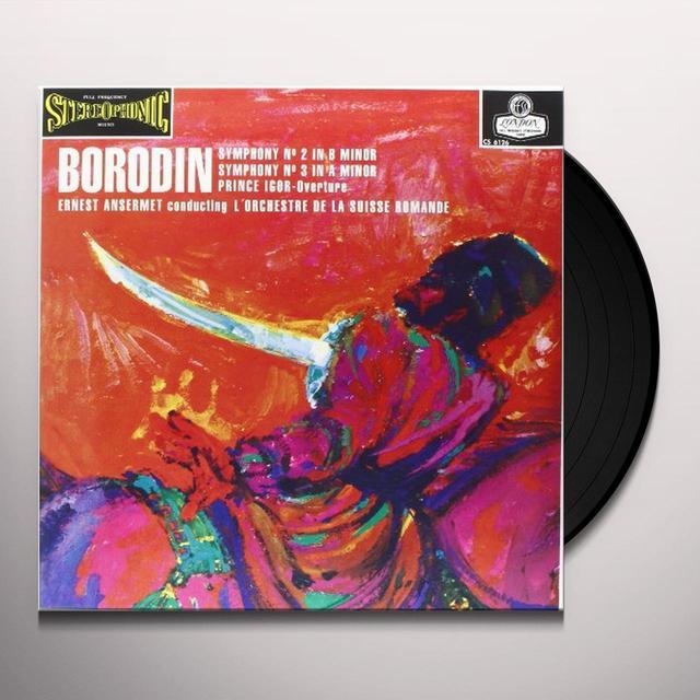Borodin / Ansermet SYMPHONIES 2 & 3 Vinyl Record - 180 Gram Pressing