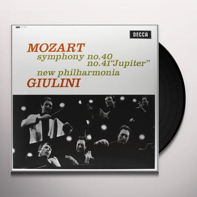 Mozart / Giulini SYMPHONIES 40 & 41 Vinyl Record - 180 Gram Pressing