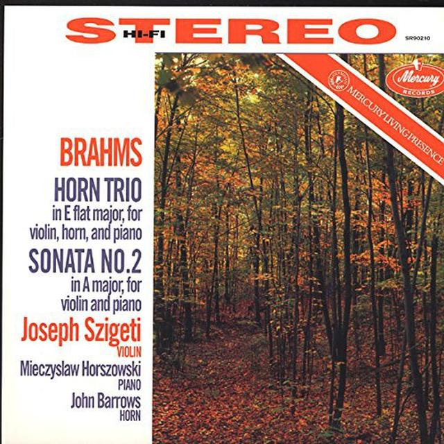 Brahms / Szigeti / Horszowski / Barrows HORN TRIO SONATA 2 Vinyl Record