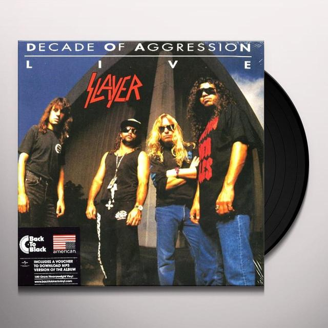 Slayer LIVE: DECADE OF AGGRESSION Vinyl Record - UK Release