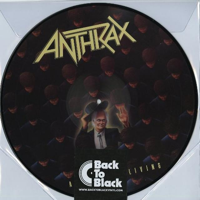 Anthrax AMONG THE LIVING Vinyl Record - Holland Import