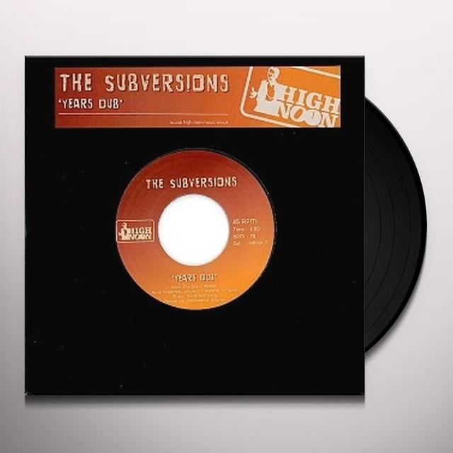 Subversions YEARS DUB Vinyl Record - UK Import
