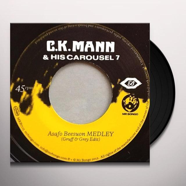 C.K Mann & His Carousel 7 ASAFO BEESUON MEDLEY Vinyl Record - UK Release