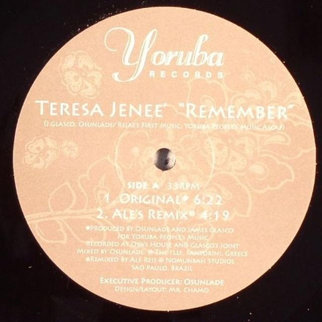 Teresa Jenee REMEMBER Vinyl Record - UK Release