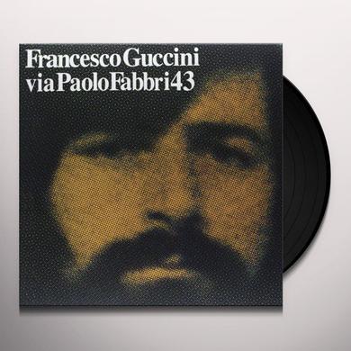 Francesco Guccini VIA PAOLO FABBRI 43 Vinyl Record - Italy Import