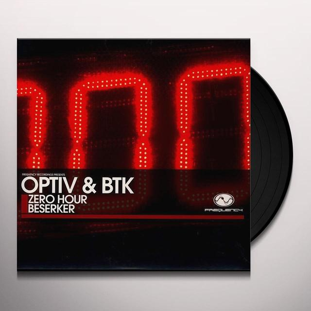 Optiv & Btk ZERO HOUR/BESERKER Vinyl Record - UK Release
