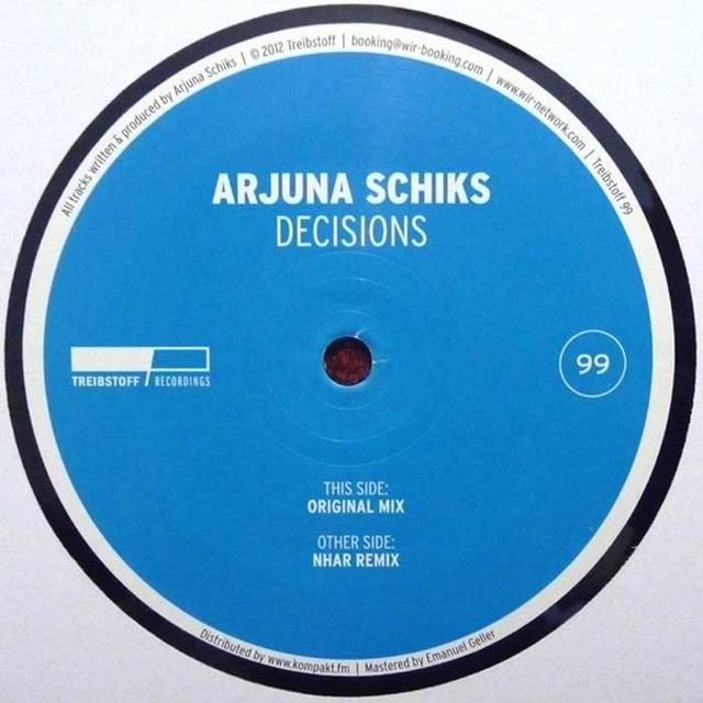Arjuna Schiks DECISIONS Vinyl Record - UK Release