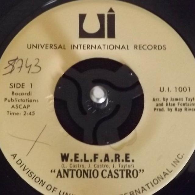Antonio Castro W.E.L.F.A.R.E Vinyl Record - UK Release
