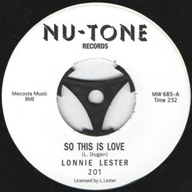 Lonnie Lester SO THIS IS LOVE Vinyl Record