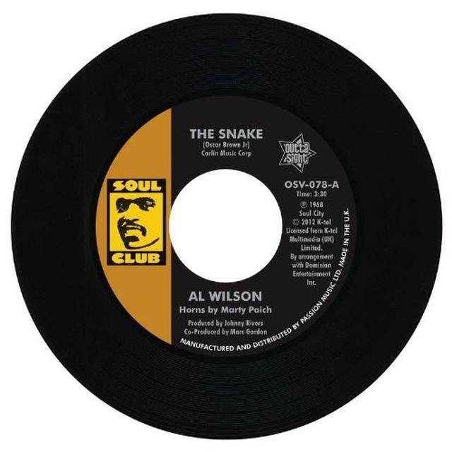 Al Wilson SNAKE/SHOW & TELL Vinyl Record