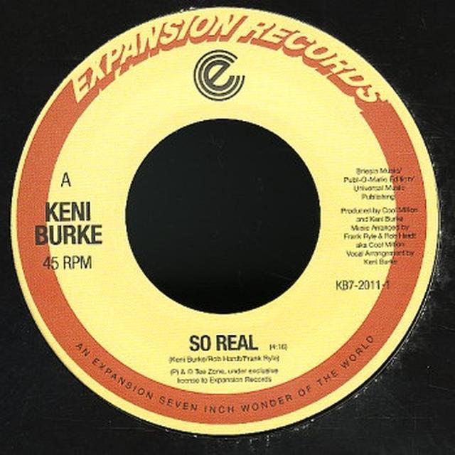 Keni Burke SO REAL Vinyl Record - UK Import