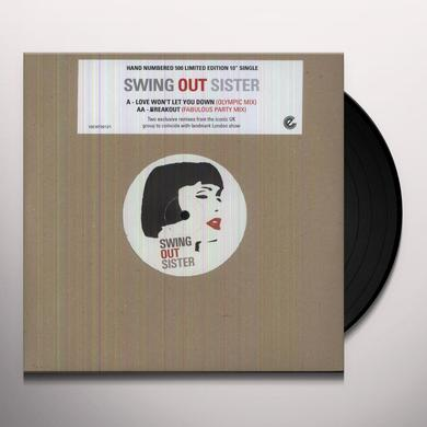 Swing Out Sister LOVE WON'T LET ME DOWN Vinyl Record - 10 Inch Single, UK Release