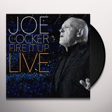 Joe Cocker FIRE IT UP: LIVE Vinyl Record - Holland Release