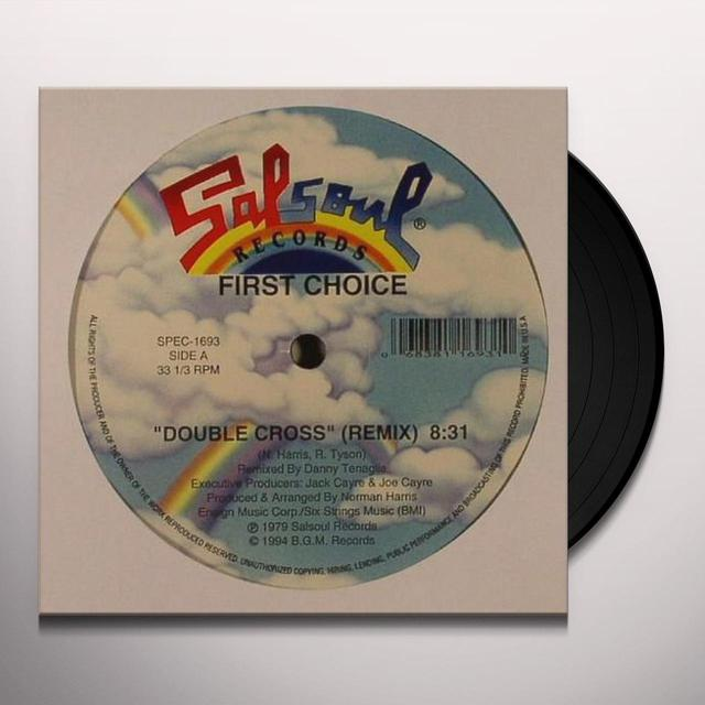 First Choice DOUBLE CROSS/LOVE THANG Vinyl Record
