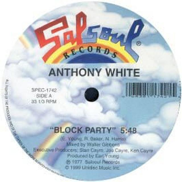 White Anthony BLOCK PARTY/I CAN'T TURN YOU LOOSE Vinyl Record