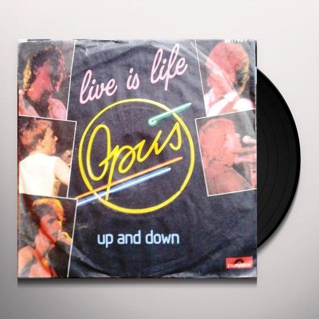 Opus LIVE IS LIFE Vinyl Record - Canada Release