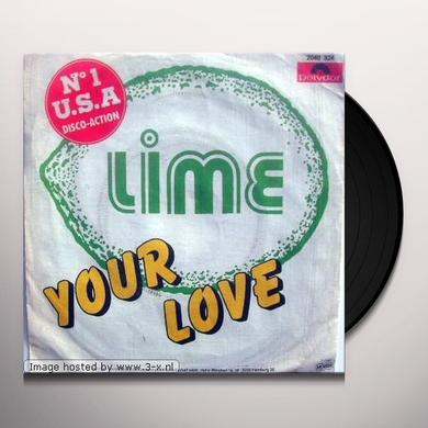 Lime YOUR LOVE 2000 Vinyl Record - Canada Import