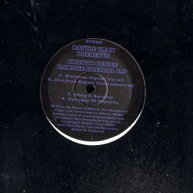 Kronos Device DAMAGE CONTROL EP Vinyl Record - UK Release