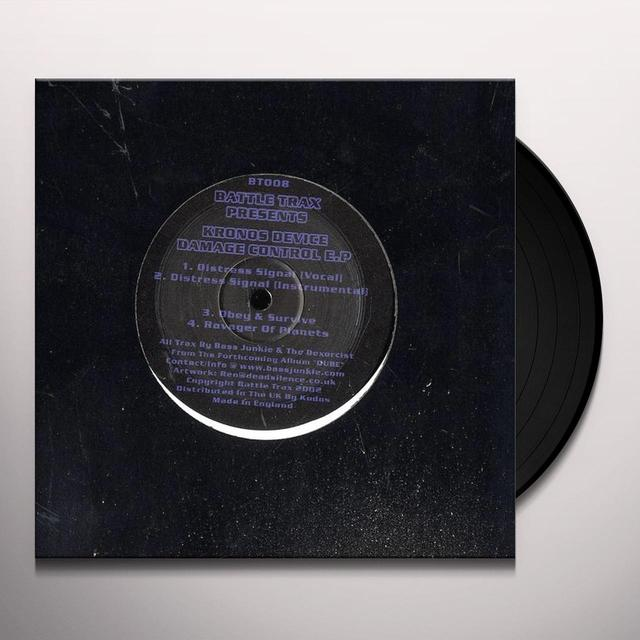 Kronos Device DAMAGE CONTROL EP Vinyl Record - UK Release