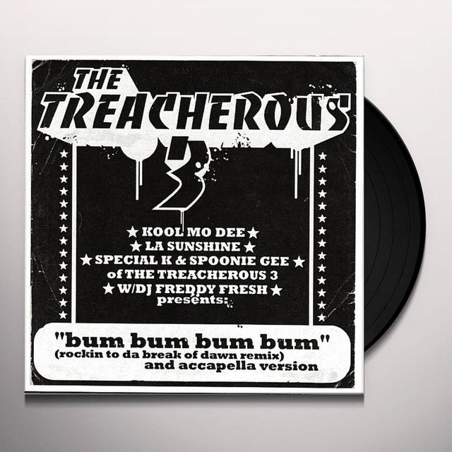 Treacherous 3 BUM BUM BUM BUM Vinyl Record - UK Import