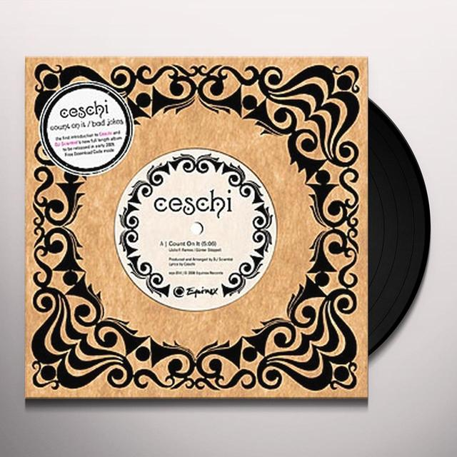 Ceschi COUNT ON IT/BAD JOKES Vinyl Record - UK Release
