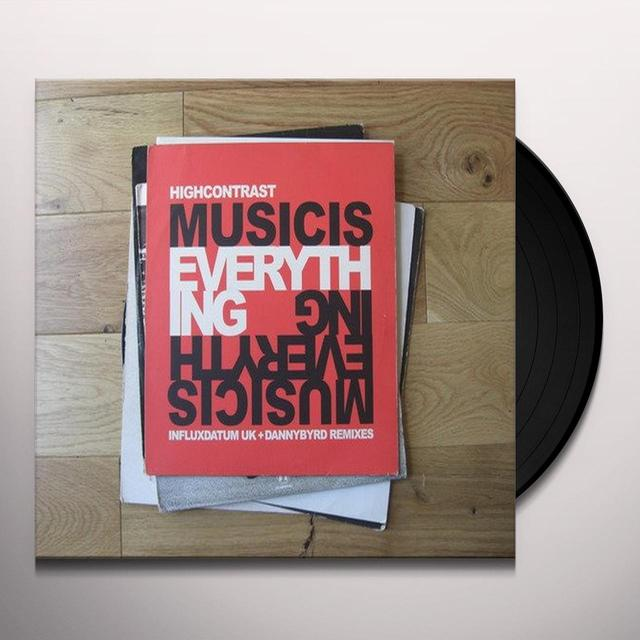 High Contrast MUSIC IS EVERYTHING RMXS Vinyl Record - UK Import