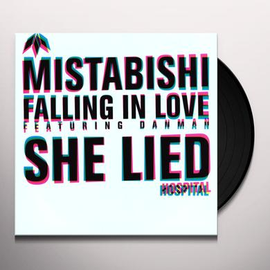 Mistabishi SHE LIED-FALLING IN LOVE Vinyl Record - UK Release