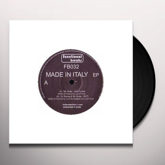 Dj Rocca & 5Th Suite MADE IN ITALY Vinyl Record - UK Import